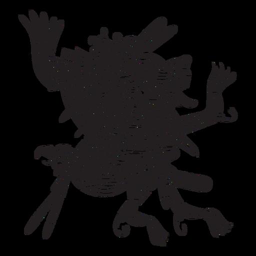 Dioses aztecas ilustración xolotl Transparent PNG