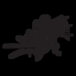 Símbolo de espiritualismo asteca preto