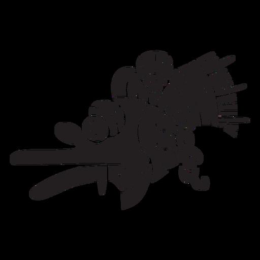 Símbolo de espiritualismo asteca preto Transparent PNG