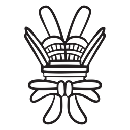 Aztec stroke abstract symbol