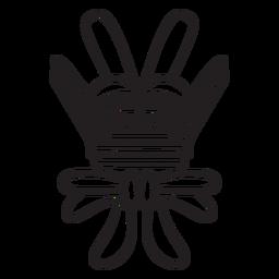 Símbolo abstracto de trazo azteca