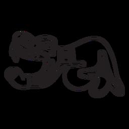 Aztec stroke animal