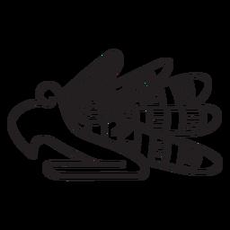 Símbolo animal com traço asteca