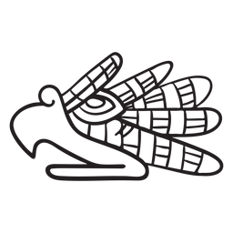 Símbolo animal de trazo azteca