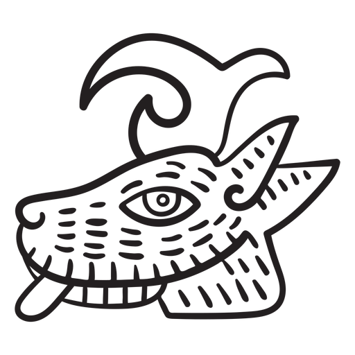 Aztec stroke animal symbol astec Transparent PNG