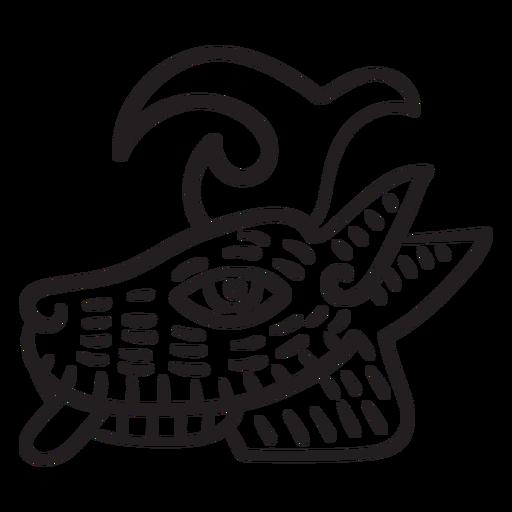 Símbolo de animal de trazo azteca azteca Transparent PNG