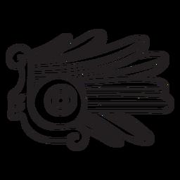 Elemento de civilización de trazo azteca