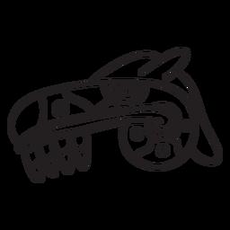 Desenho de traço asteca