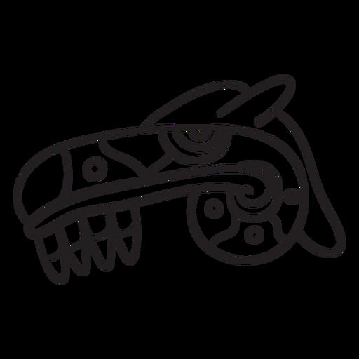 Dibujo de trazo azteca Transparent PNG