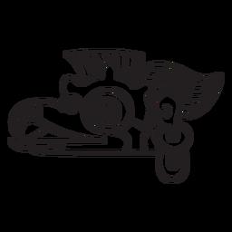 Trazo azteca dibujo azteca