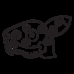 Golpe azteca dibujo conejo