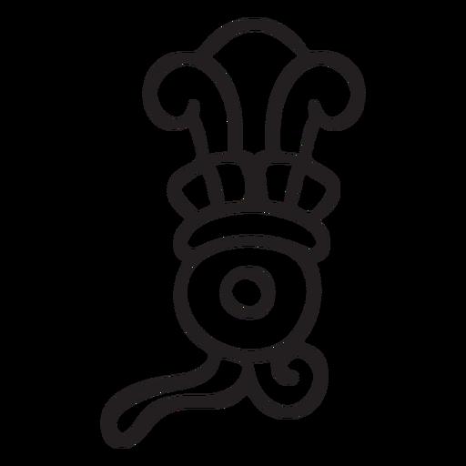 Elemento de trazo azteca Transparent PNG