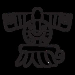 Asteca elemento de traço asteca