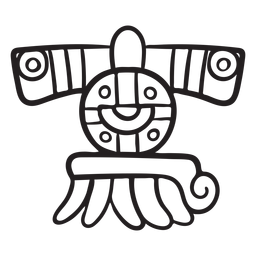 Elemento de trazo azteca azteca