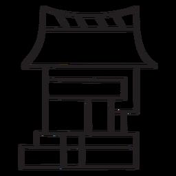 Casa azteca de trazo