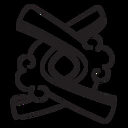 Aztec stroke indian symbols