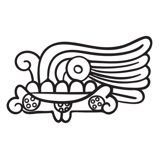 Aztec stroke indian civilizations Transparent PNG