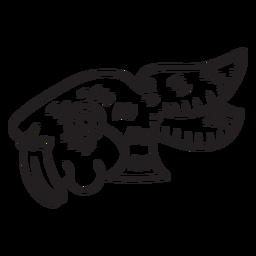 Conejo de trazo azteca