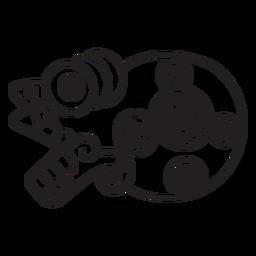 Aztekisches Strichsymbol
