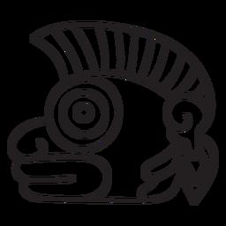 Aztekische Strichsymbolkreatur