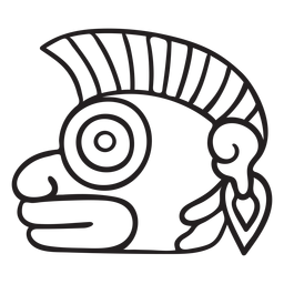 Criatura de símbolo de trazo azteca