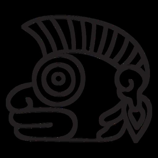 Aztec stroke symbol creature