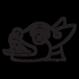 Perro de símbolo de trazo azteca