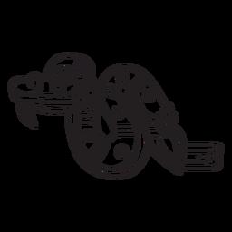 Serpiente de símbolos de trazo azteca