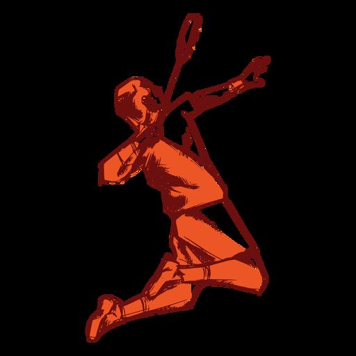 Jugador de badminton Transparent PNG