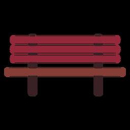 Icono plano de banco