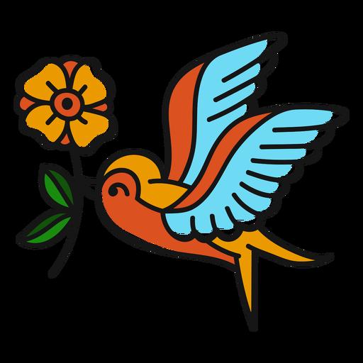 Curso de pássaro oldschool Transparent PNG