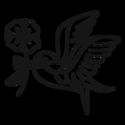 Vogel oldschool Anschlagvogel