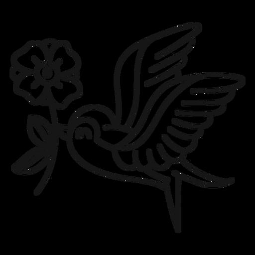 Bird oldschool stroke bird Transparent PNG