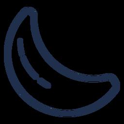 Banana de ícone de traçado de doces