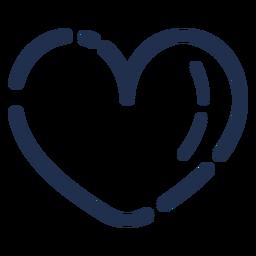 Corazón de icono de trazo de caramelo