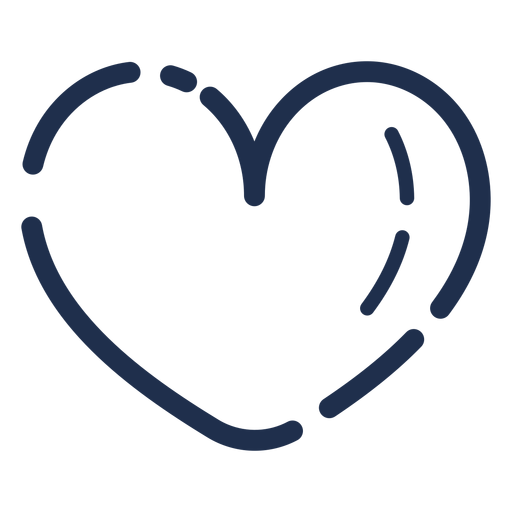 Candy stroke icon heart Transparent PNG