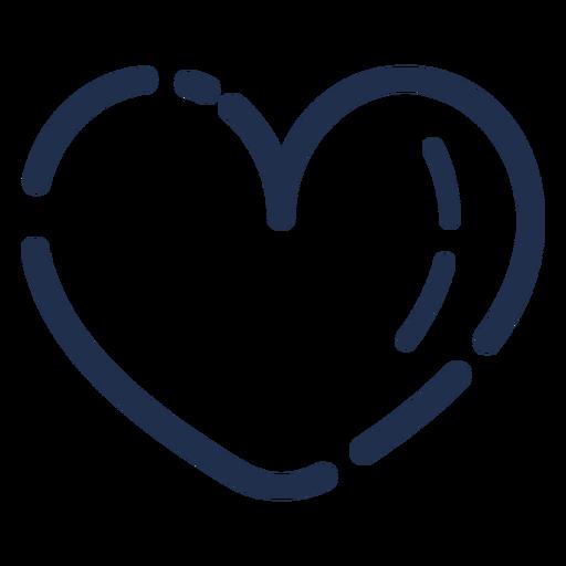 Corazón de icono de trazo de caramelo Transparent PNG