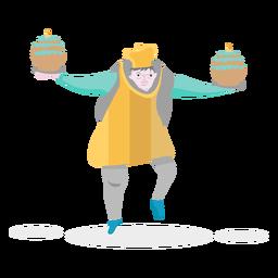 Pastel de panadero de personajes