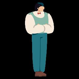 Hombre de personaje británico de dibujos animados