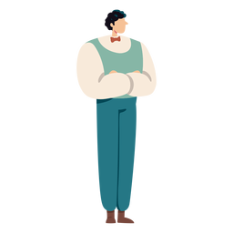Homem britânico dos desenhos animados do personagem