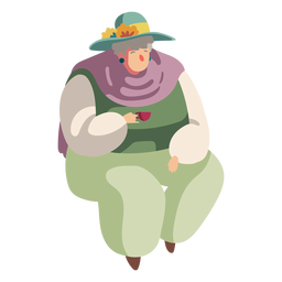 Character british old lady