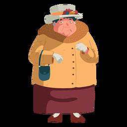 Mulher velha britânica de caráter