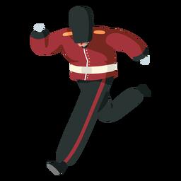 Character british royal guard runs