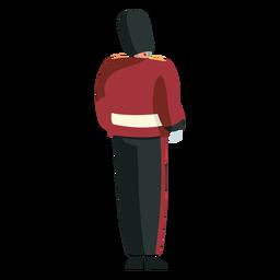 Carácter guardia real británica atrás