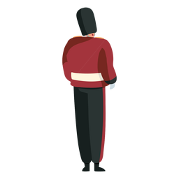 Character british royal guard back