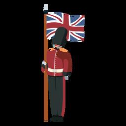 Carácter bandera de la guardia real británica