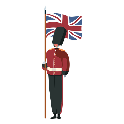 Bandeira da guarda real britânica de personagem Transparent PNG