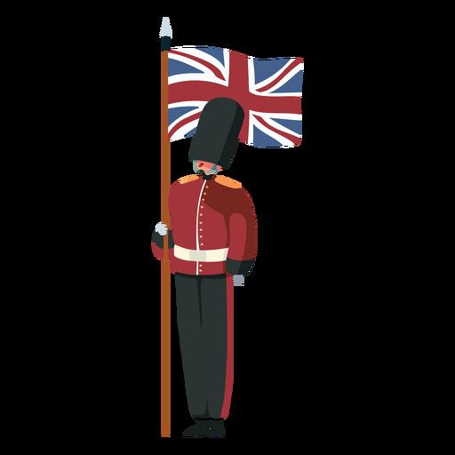 Carácter bandera de la guardia real británica Transparent PNG