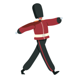 Marcha de la guardia real británica de carácter