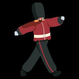 Março de guarda real britânica de personagem